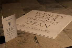 Ashes of Dr Wesley Carr buried in the Abbey | Westminster Abbey