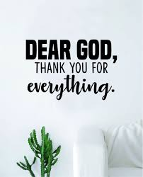Dear God Thank You Quote Wall Decal Sticker Bedroom Home Room Art Viny Boop Decals