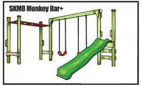 double swing slide monkey bar set kit