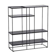 black wire metal frame mdf top bookcase