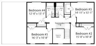 5 bedroom house plans 2 story one floor