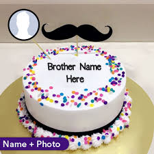 birthday cake for brother with name and