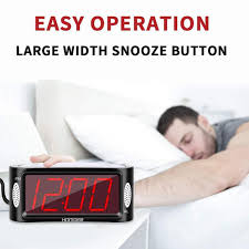 2020 uk eu plug digital led alarm clock