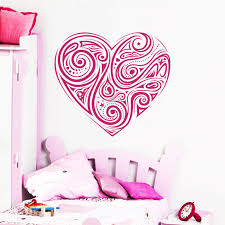 Shop Swirly Heart Hot Pink Vinyl Sticker Wall Art Overstock 10409720