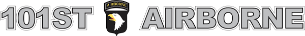 101st Airborne Window Strip Vinyl Transfer Decal