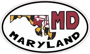Transportation 3 Pack Maryland State Map Md Permanent Vinyl Decal Laptop Window Car Sticker Ceylonexhibitions Lk