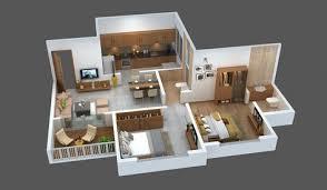 2 bhk house plans 30x40 3d house