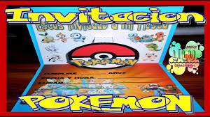 Como Hacer Una Invitacion De Pokemon 3d Youtube