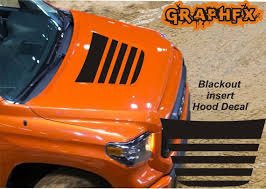Blackout Vinyl Hood Decal Stripes Compatible With Toyota Etsy