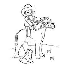Leuk Voor Kids Kleurplaatplaymobil Poppetje Op Een Paard Paarden