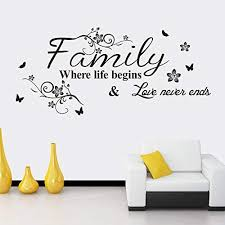 Art Family Home Decor Creative Quote Wall Decals Decorative Removable Family Wall Stickers Mural Price In Uae Amazon Uae Kanbkam
