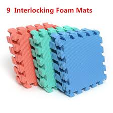 9pcs Set Interlocking Puzzle Foam Floor Mat Gym Thick Squares Area Rugs And Carpet For Kids Room Tile Baby Toy Bathroom Wish
