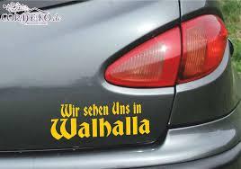Bumper Sticker Car Viking Valhalla Odin Tuning Viking Sticker