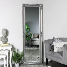 ornate silver full length mirror 168cm