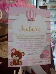 Invitacion Osita Vintage Invitaciones Invitaciones Para Baby