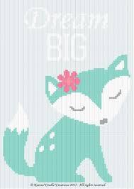 crochet patterns dream big baby fox