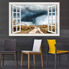 3d Wall Sticker Nature Tornado Decal Window View Wallpaper Home Decor Decals Removable Stickers For Living Room Wallpaper 3d Wall Stickers Wall Stickerstickers For Aliexpress