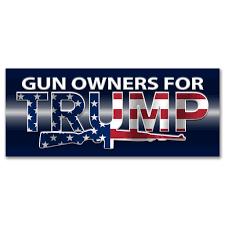 Gun Owners For Trump 2020 American Flag Bumper Sticker Dt Bs 540