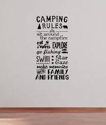 Camping Rules Subway Art Wall Decals Sticker Camper Rv Camp Quote Saying 37x20 Camping Rules Camping Quotes Camping Checklist
