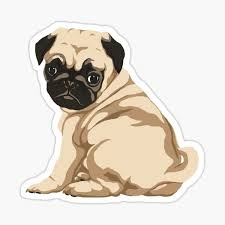 Pug Stickers Redbubble