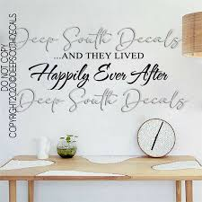 Happily Ever After Starts Here Wall Decal Home Decor Quote Wall Decal Love For Sale Online Ebay