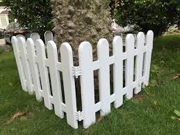 Hineway Nursery Garden Fence Decor Wall Border Picket Fences White Pvc Fences 19x11inches 4pcs Set Amazon Co Uk Garden Outdoors