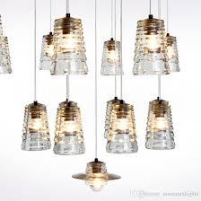 modern crystal glass pendant lamps