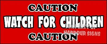 Caution Watch For Children Safety Sign Decals 14 X 6 Concession Ice Cream Truck For Sale Online Ebay