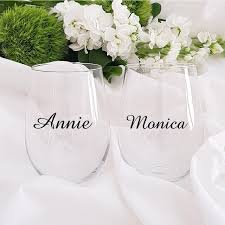Best Price C7c30e Custom Name Decal Wedding Party Glass Vinyl Stickers Classic Champagne Glasses Cup Decals With Name Bridal Titles Available Cicig Co