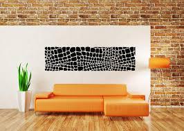 Amazon Com Vinyl Sticker Crocodile Snake Skin Pattern Animal Print Leather Cubs Squares Ornament Mural Decal Wall Art Decor Sa2239 Handmade