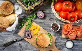 تحميل خلفيات تشيز برجر الوجبات السريعة طبخ همبرغر الأغذية غير