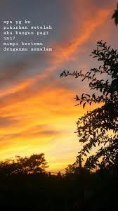 mimpi pagi kamu rindu pemandangan fotografi alam langit