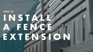 How To Install A Fence Extension Youtube