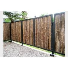 Natural Black Rolled Bamboo Fencing 1 X 8 X 8 Bamboo Fence Fence Design Fence Panels