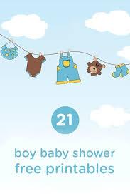 21 free boy baby shower printables