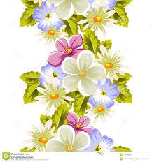 Modelo Inconsutil Floral De Varias Flores Para El Diseno De