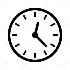 Zifferblatt, Zifferblatt Oder Uhr Gesicht Mit Den Händen Linie ...