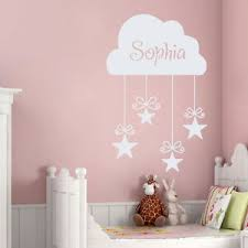 Girls Name Decal Kids Wall Decals Nursery Cloud Stickers Star Bedroom Decor Dr15 Ebay