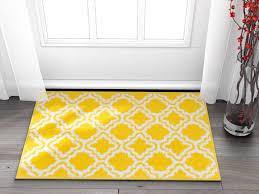 Well Woven Small Rug Mat Doormat Modern Kids Room Kitchen Rug Calipso Yellow 1 8 X 2 7 Lattice Trellis Accent Area Rug Entry Way Bright Carpet Bathroom Soft Durable Walmart Com Walmart Com