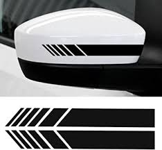 Amazon Com Youngfly 2pcs Car Rear View Mirror Stickers Decor Diy Car Body Sticker Side Decal Stripe Decals Suv Vinyl Graphic Black Automotive