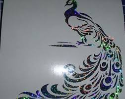 Peacock Car Decal Etsy