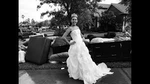 floodwaters soaked her wedding dress
