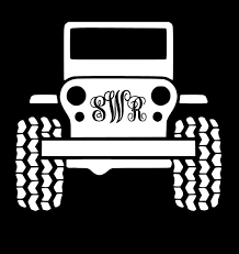 Monogram Jeep Decal Clever Owlz Online Store Powered By Storenvy