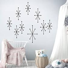 Atomic Starbursts Wall Decals Mid Decco