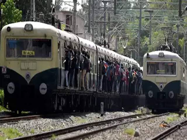 Image result for chennai suburban train""
