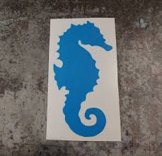 Vinyl Seahorse Decal Nautical Themed Decal Sea Horse Etsy