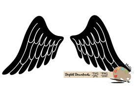 Angel Wings Svg Cut File In Loving Memory Memorial Angel Etsy