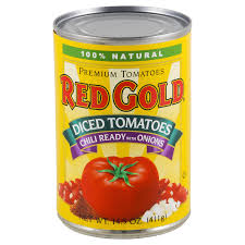 red gold diced tomatoes chili ready
