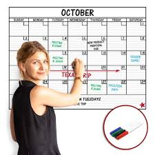 Large Dry Erase Laminated Removable Wall Calendar Premium 24 Inch By 36 Inch Peel And Stick Dry Erase Monthly Decal Sticker Planner Reusable Repositionable Ships Rolled Markers Included Walmart Com Walmart Com