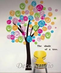 Colorful Circle Tree Wall Sticker Decal For Girls Kids Nursery Bedroom Decalstudio On Artfire